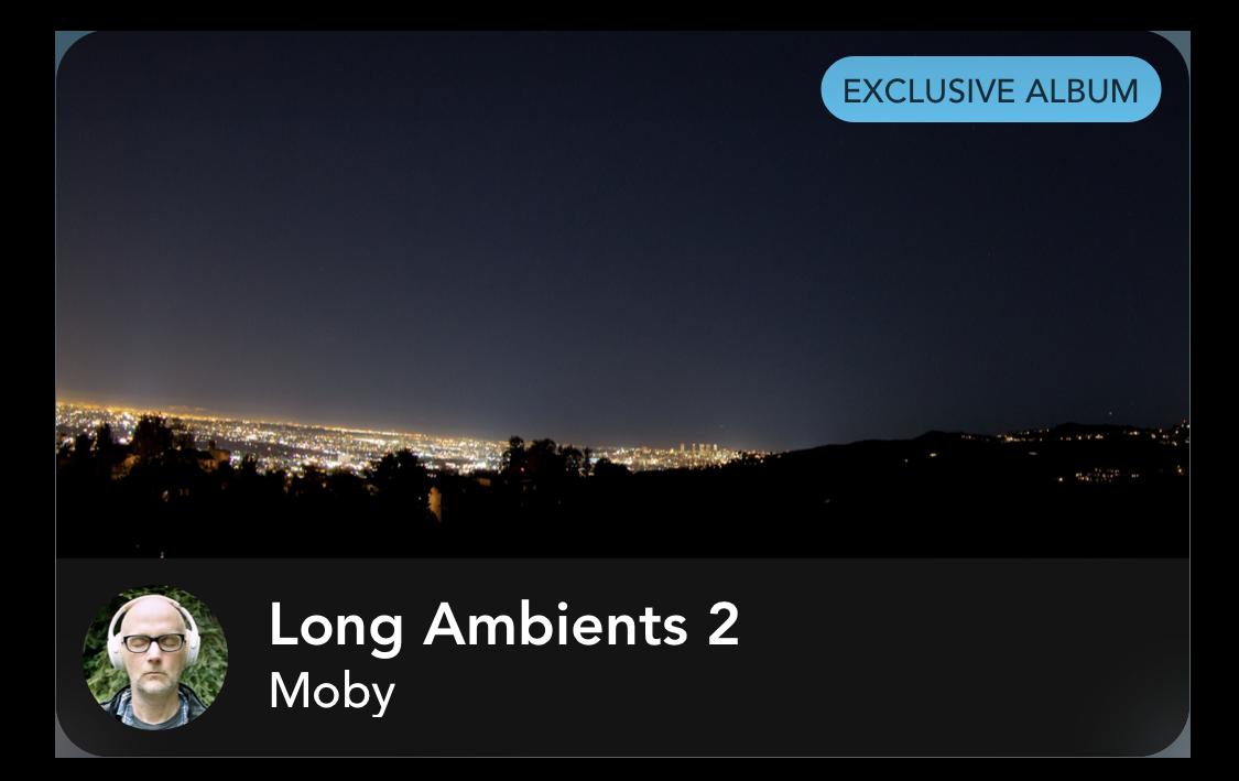 Moby Album Tile Long Ambients 2, courtesy Calm