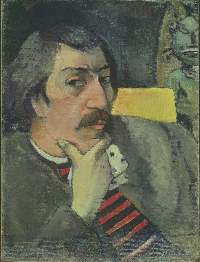 Paul Gauguin, Self Portrait with Idol, McNay Art Museum, Sant'Antonio, Texas