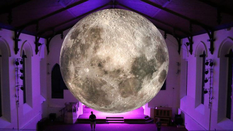 Southern Hemisphere Moon photo by Luke Jerram