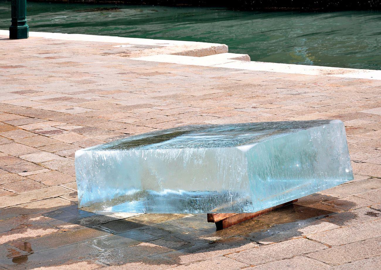 Stefano Cagol, The Ice Monolith, 2013. Riva Ca' di Dio, Venezia 2013. Maldives Pavilion, 55. Biennale di Venezia