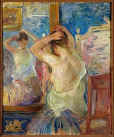 Berthe Morisot Devant la psyché, 1890 Olio su tela, 55x46 cm Collection Fondation Pierre Gianadda, Martigny, Suisse Photo Michel Darbellay, Martigny
