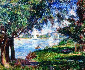 Pierre-Auguste Renoir Bougival, 1888 Olio su tela, 54x65 cm Collezione Pérez Simón, Messico