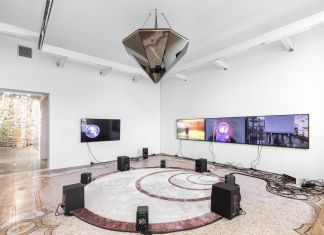 Haroon Mirza, Beyond the Wave Epoch, 2019. Multimedia installation. Installation View, Time, Forward!. Photo: Delfino Sisto Legnani e Marco Cappelletti
