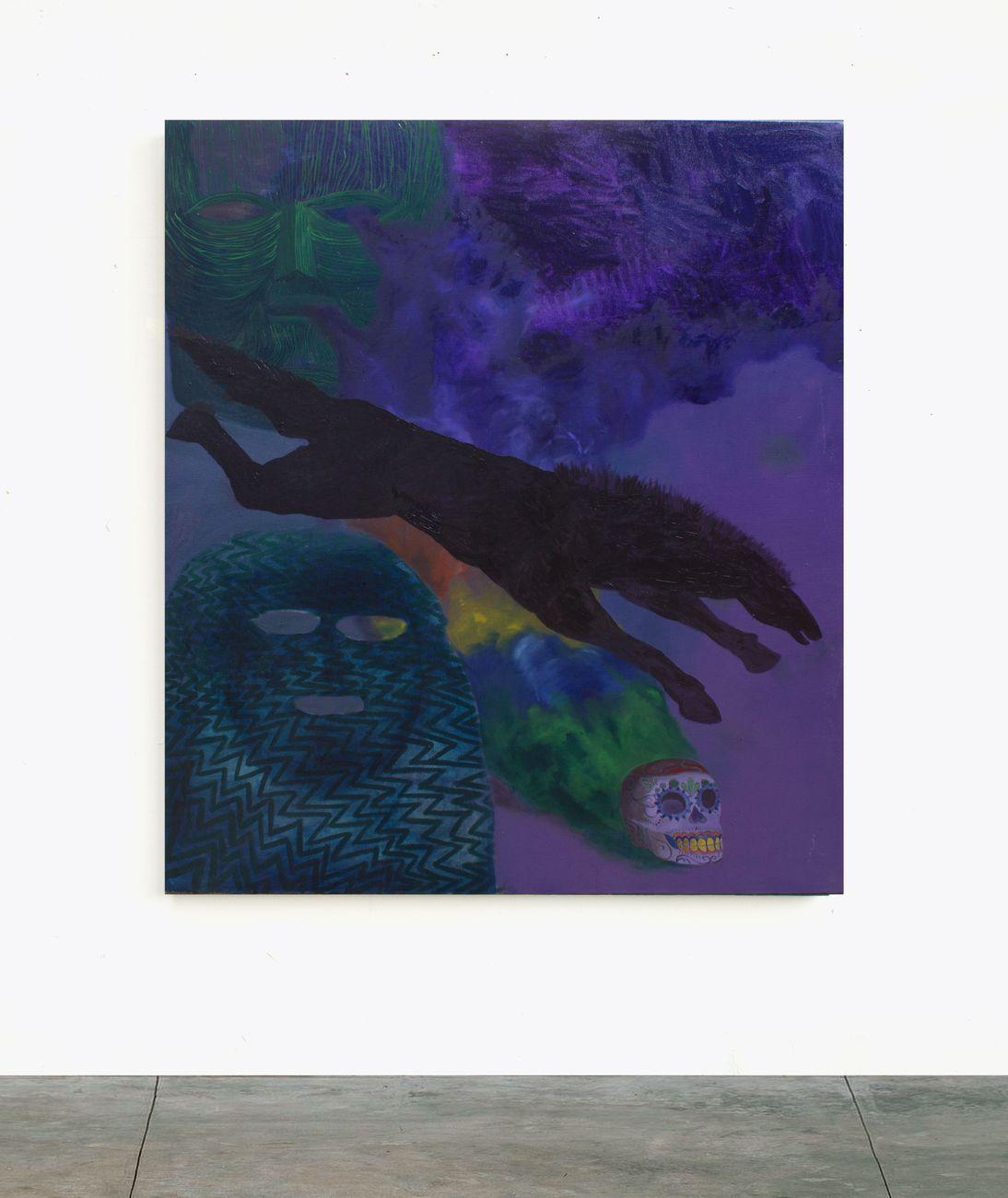 Alessandro Fogo, La Sacra Muerte, 2019, olio su lino, 130x155 cm