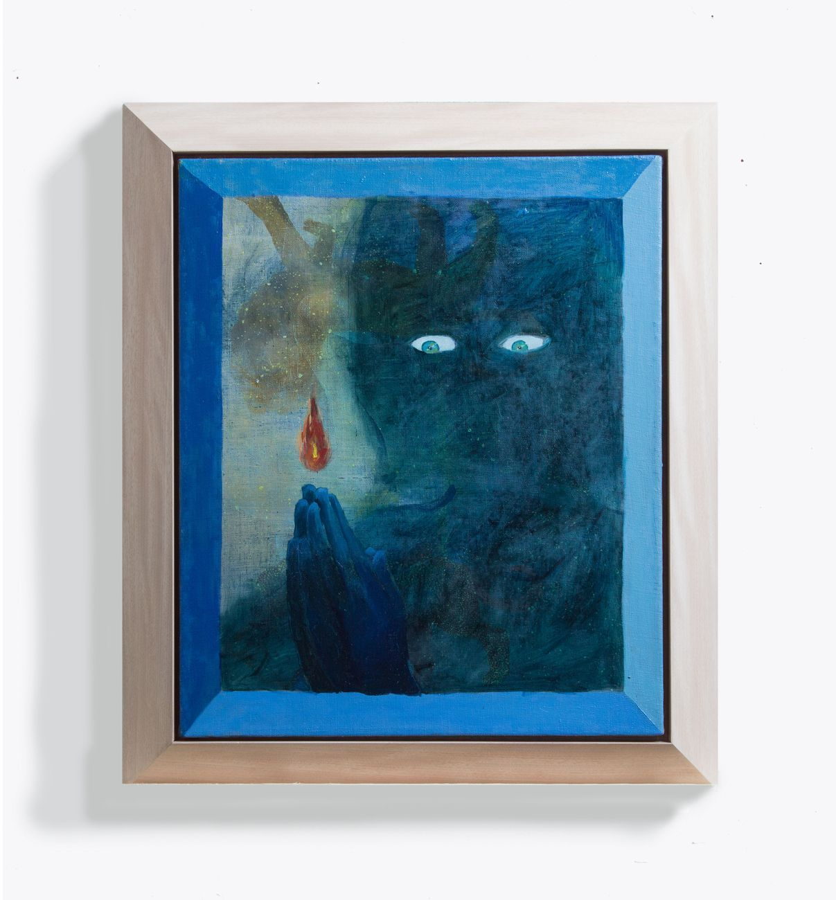 Alessandro Fogo, Piccola fiamma all'origine dell'universo, 2018, olio su lino, 50x60 cm
