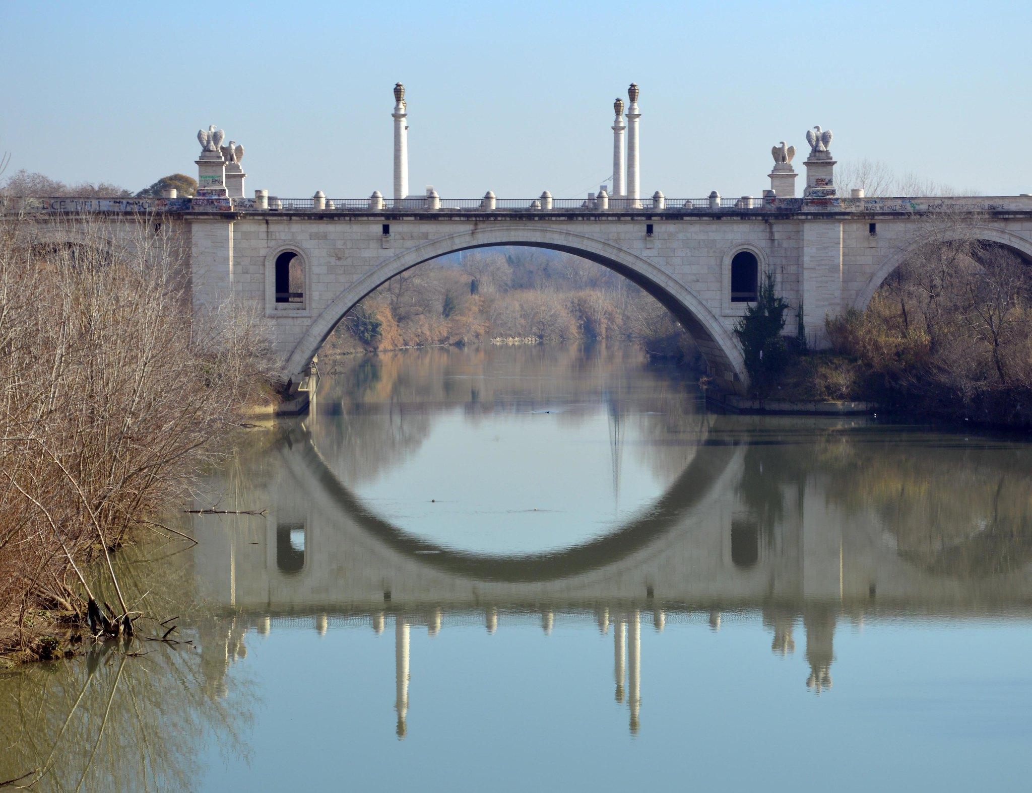 Armando Brasini, Ponte Flaminio, Roma. Photo Giorgio Rodano via Flickr, gennaio 2016