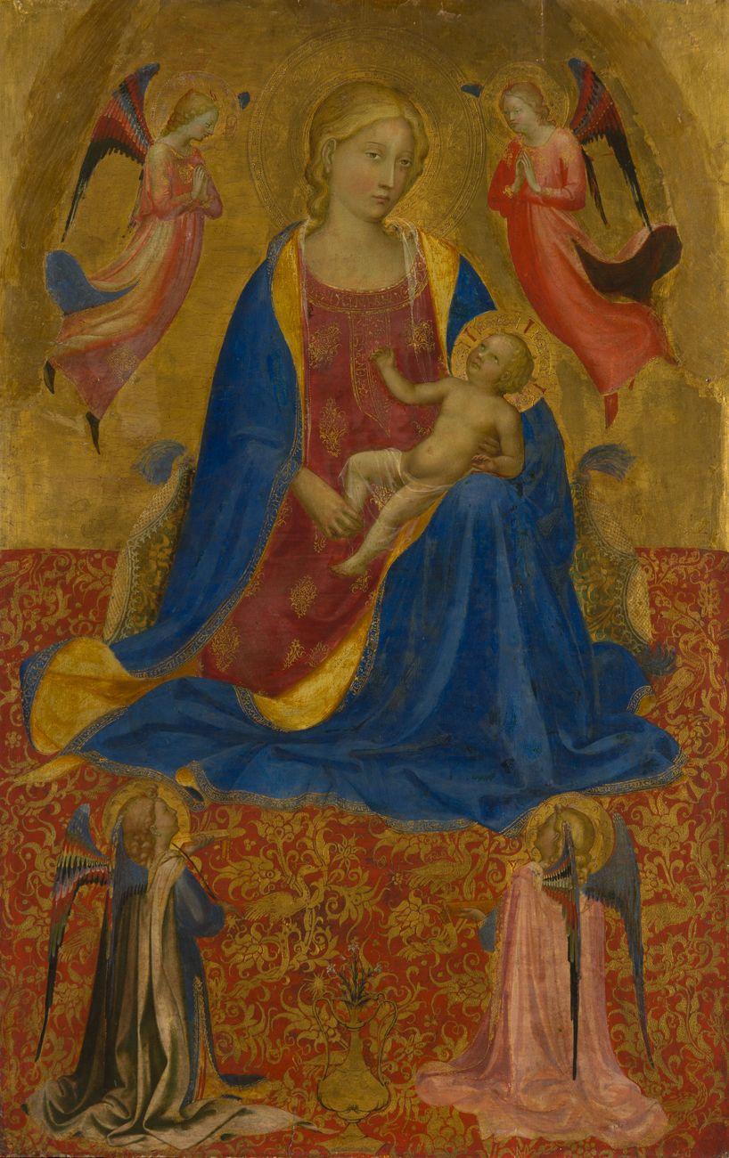 Beato Angelico, Madonna col Bambino e quattro angeli, 1417-19, Museo dell'Ermitage, San Pietroburgo