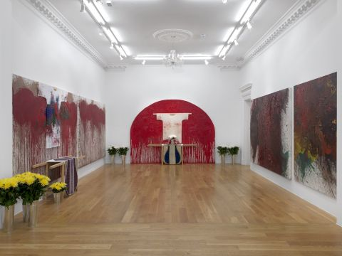 MUSJA Hermann Nitsch Exhibition view: Hermann Nitsch, 2018, Massimo de Carlo, London GB Photo: © Massimo de Carlo
