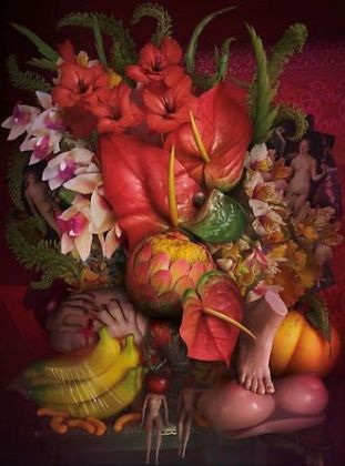 David LaChapelle, Earth Laughs in Flowers (The Lovers), 2008 2011, C Print, 152.4x112.17 cm; Courtesy Studio David LaChapelle