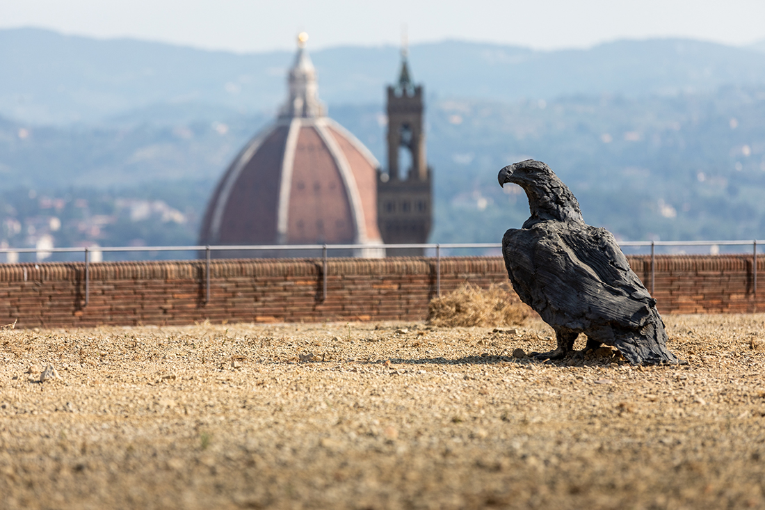 Davide Rivalta. My land. Installation view at Forte di Belvedere, Firenze 2019. Photo © Nicola Neri