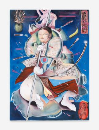 Davide Serpetti, Clash of Jam (Samurai with pink arrows), 2017