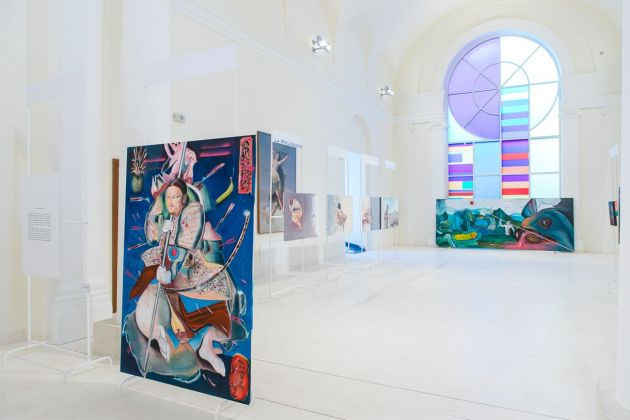 Davide Serpetti, Resistenze. Installation view at Palazzo dell'Emiciclo, L'Aquila, 2019. Photo Alberto Blasetti