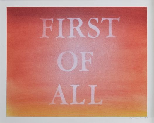 EDWARD RUSCHA, First Of All Fog, 2015 © Ed Ruscha Copyright The Artist Courtesy of the artist and Gagosian