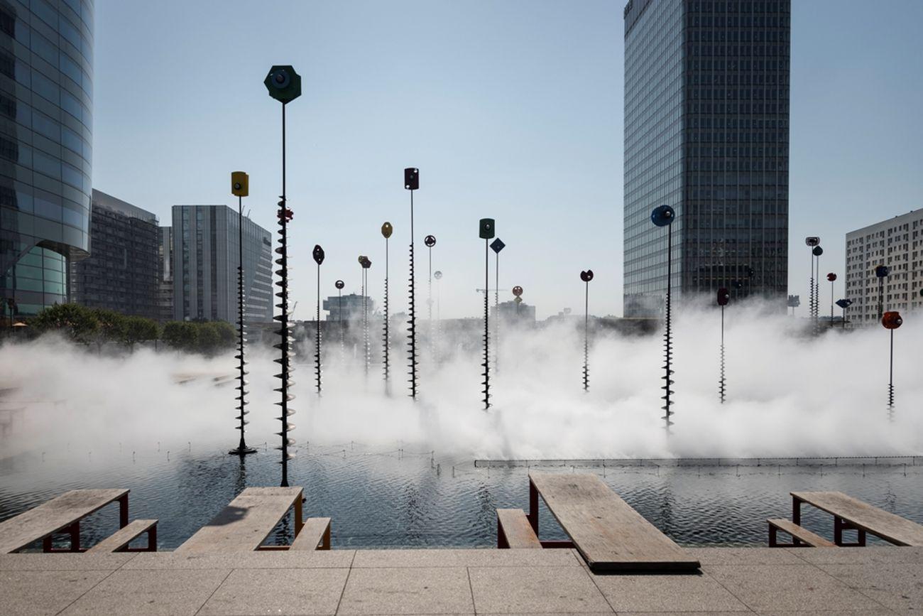 Fujiko Nakaya, Fog Sculpture, Les Extatiques, Paris, 2019. Photo Carlos Ayesta