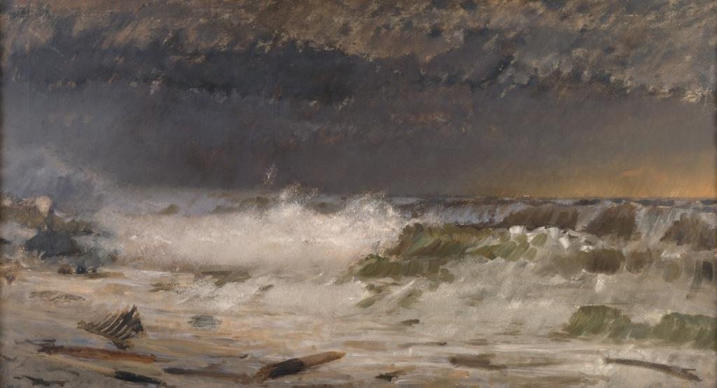 Giuseppe De Nittis, Mare in burrasca, 1877. Barletta, Pinacoteca Giuseppe De Nittis