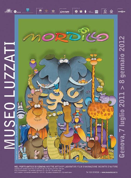 La locandina della mostra presso il Museo Luzzati, Genova, 2011