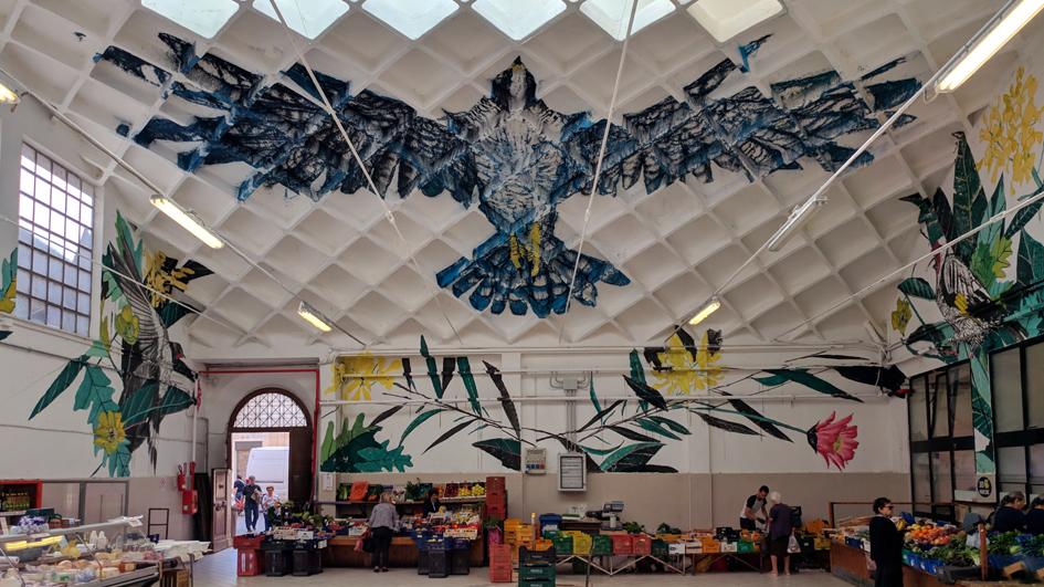 L'opera di TWOONE al Mercato di Osimo - Foto di Aurelio Laloni