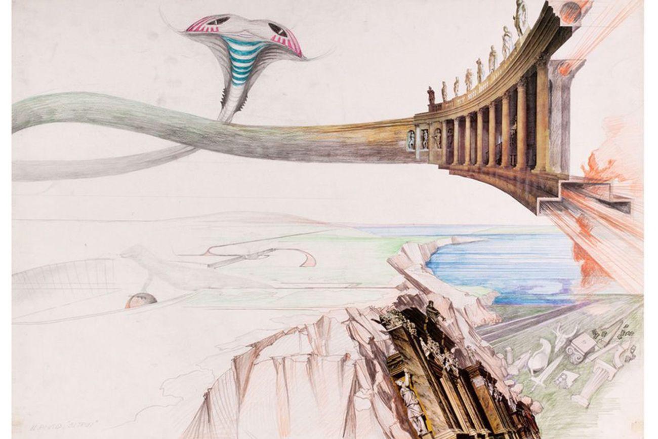Luigi Pellegrin, Disegni di fantasia, 1991. Collezione MAXXI