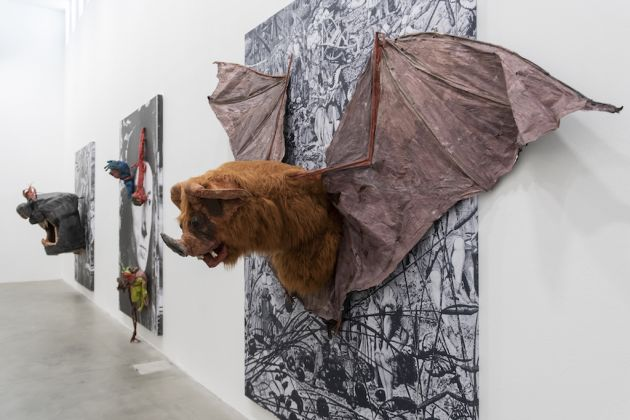 MUSJA_Monster Chetwynd, Bat Panel Photo credit: Andrea Rossetti Courtesy: Massimo De Carlo, Milan London Hong Kong and the artist