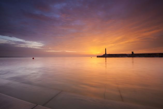 Margate Harbour Arm Sunset 3. Credit Visit Thanet