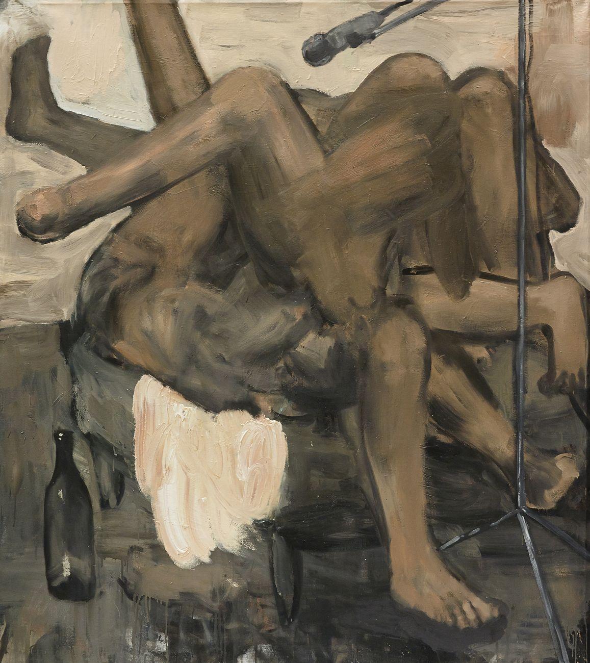 Michele Bubacco, Sonata per dodici gambe da camera, 2013, oil on canvas, 160x130 cm. Photo Anna Lott Donadel