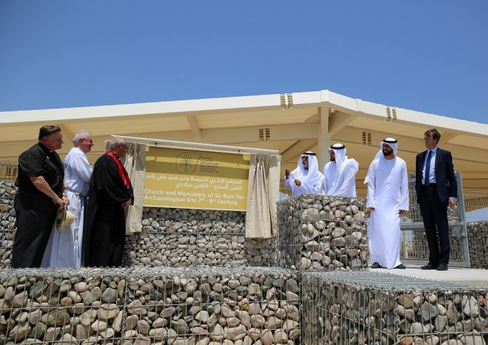 Nahyan bin Mubarak Inaugurates Sir Bani Yas Church and Monastery