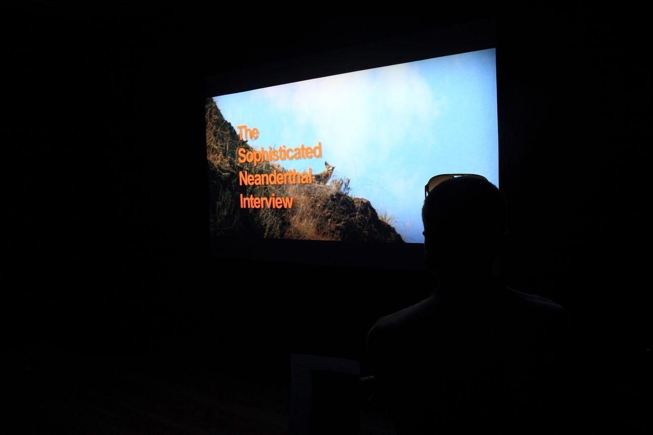 Nathaniel Mellors. ME UOMO. Installation view at Museo Burel, Belluno 2019. Photo credit Stefano Zangrando