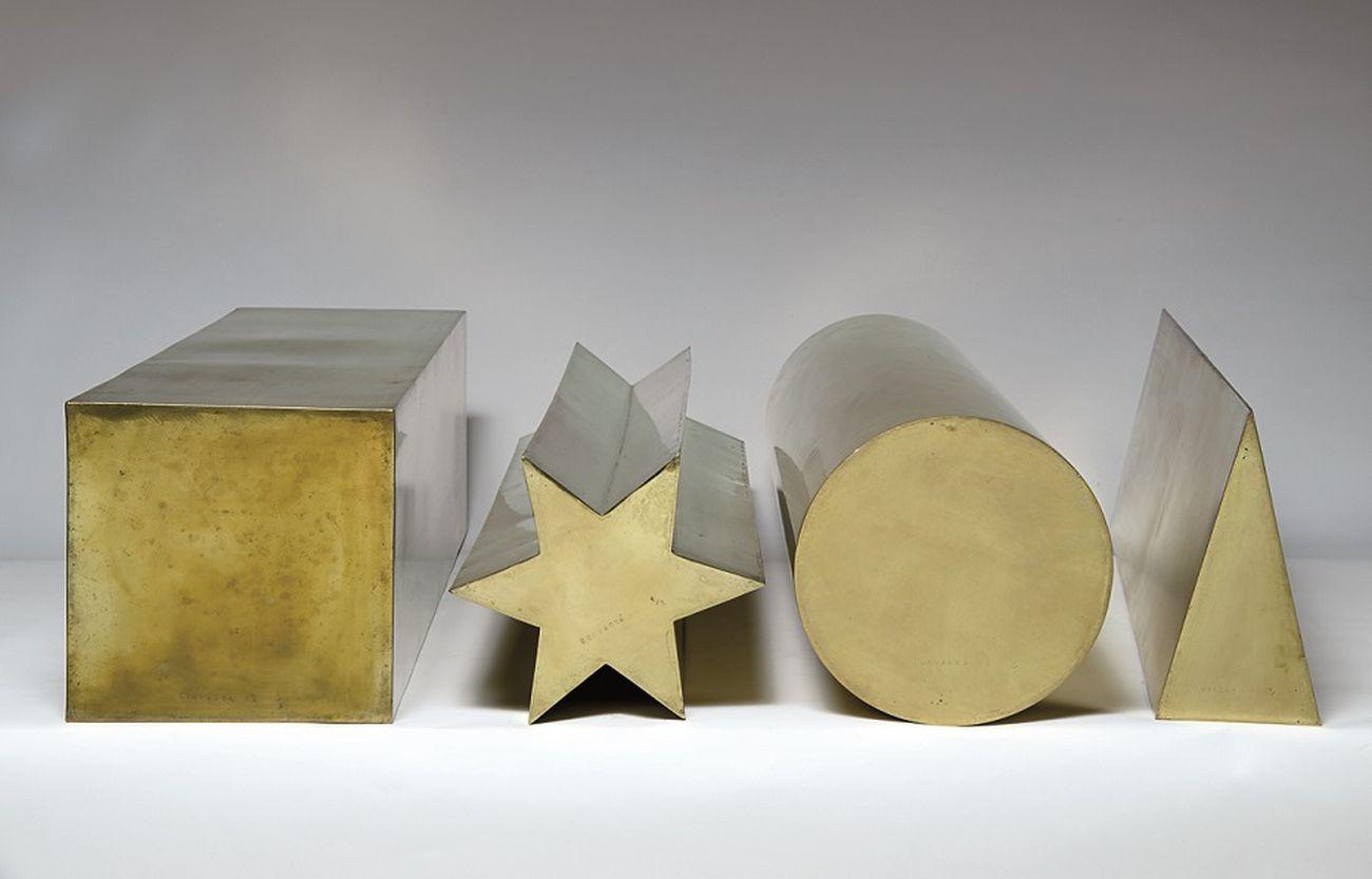 Pietro Consagra, Spessori in prospettiva. Quadrato, Stella, Disco, Triangolo, 1968