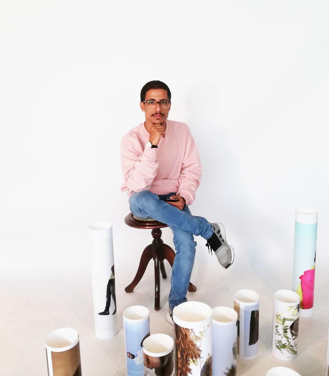 Ritratto di Abdul Rahman nel suo studio a Riad. Photo Daniele Perra