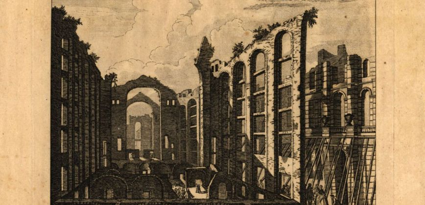 Ruins of Lisbon after the EarthQuake on the 1st November 1755 the Opera House, 1755 Henry Roberts, Biblioteca Nacional de Portugal, Public Domain Mark