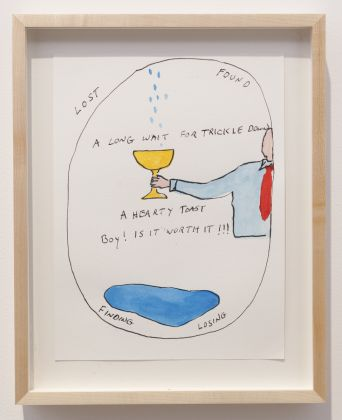 Michael Smith A Hearty Toast, 2015 watercolor on paper (12 x 9 in, 30.5 x 22.9 cm) Courtesy of The Artist and Greene Naftali