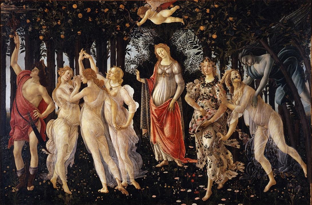 Sandro Botticelli, Allegoria della primavera, Galleria delle Statue e delle Pitture degli Uffizi, Inv. 1890 n. 8360