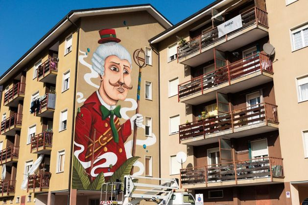 SeaCreative, Waral urban art project, Varallo, 2017. Photo Alessandro De Alberto