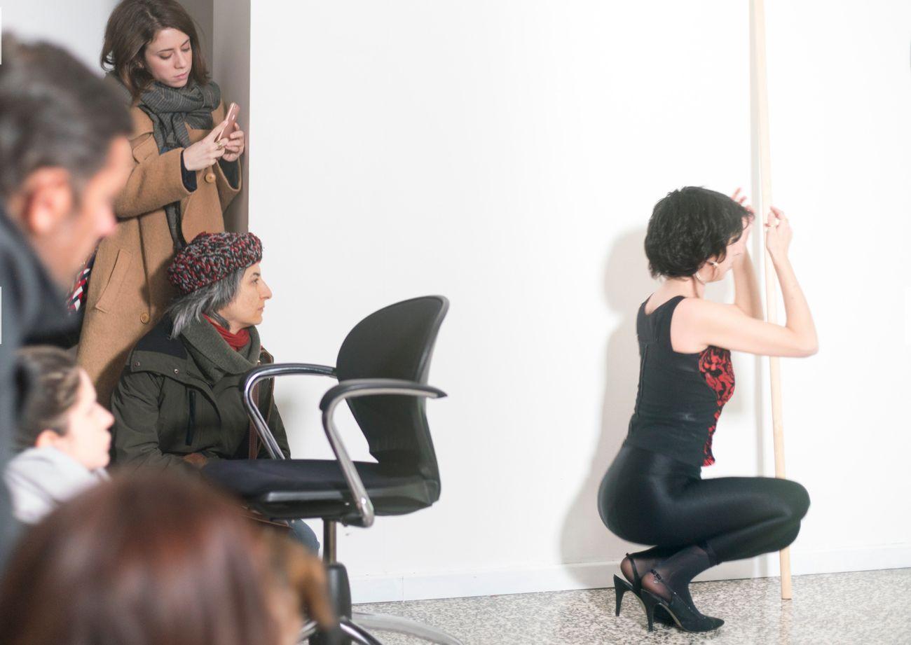Silvia Morin, Comizio, live performance, t space, Milano 2018