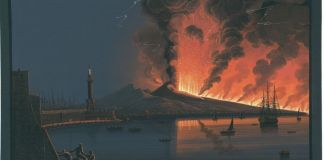 The Eruption of Vesuvius, 1794, Austrian National Library, Public Domain Mark