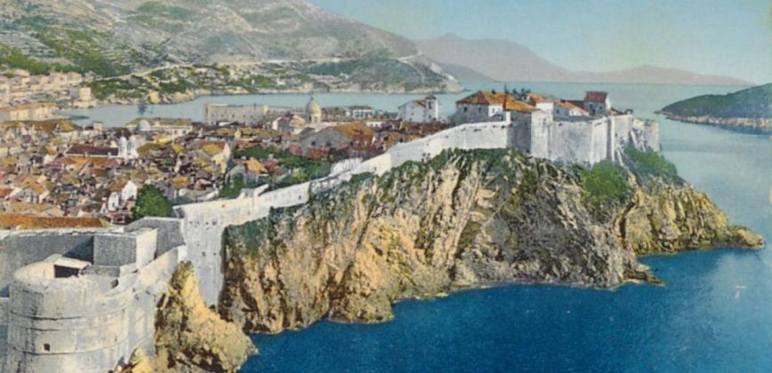 View of Dubrovnik, 1914, National and University Library in Zagreb, Public Domain Mark