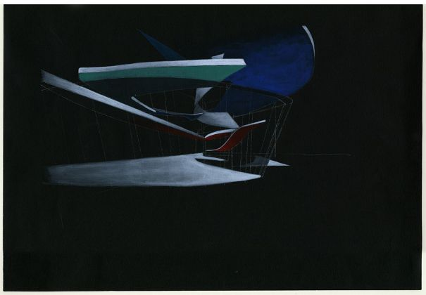 Zaha Hadid, The Hague Villas, Spiral House, 1991. Collection Frac Centre Val de Loire