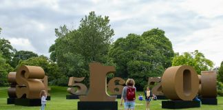 Robert Indiana, One Through Zero 1980 2002 waddington Custot, frieze sculpture 2019, ph Stephen White