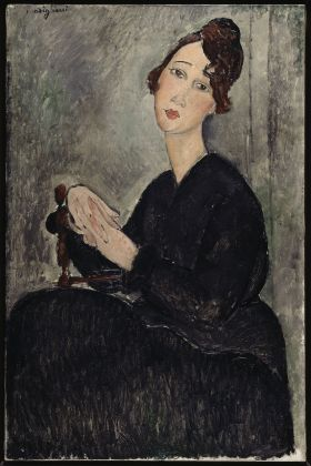 Amedeo MODIGLIANI Portrait of Dédie (Odette Hayden) 1918 Oil on canvas © Service de la documentation photographique du MNAM - Centre Pompidou, MNAM-CCI /Dist. RMN-GP