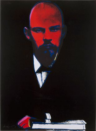 ANDY WARHOL Lenin 1986 silkscreen print 100 x 75 cm Courtesy Phillips