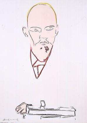 ANDY WARHOL Lenin 1986/7 Silkscreen on paper white Monoprint, 39/46 TP 110 x 77.5 cm Courtesy Phillips