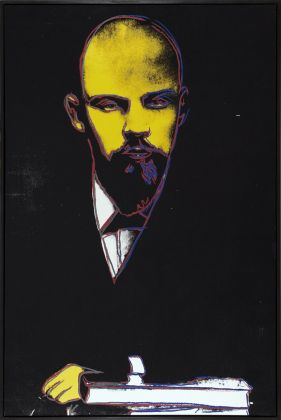 ANDY WARHOL Lenin 1986 acrylic and silkscreen on canvas 183 x 122 cm courtesy Phillips