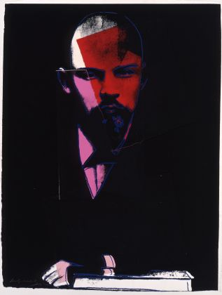 ANDY WARHOL Lenin 1986/7 collage, silkscreen on hand made paper 104 x 79 cm Courtesy Phillips
