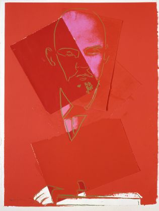 ANDY WARHOL Lenin 1986/7 Collage 101.5 x 77.5 cm Courtesy Phillips