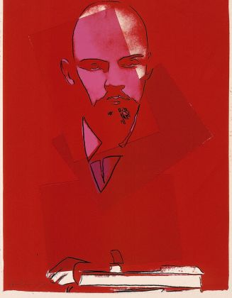 ANDY WARHOL Lenin 1987 collage, silkscreen on hand made paper 103 x 78,5 cm Courtesy Phillips