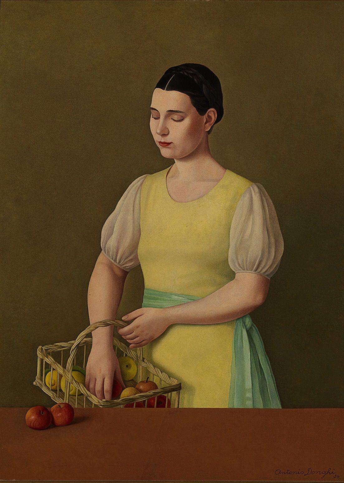 Antonio Donghi, Margherita, 1936, olio su tela, cm 78 x 56