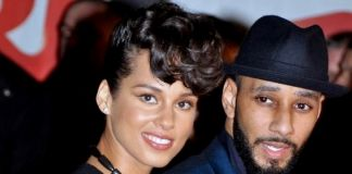 Alicia_Keys con il marito Swizz Beatz ai NRJ Music Awards, 2013 via wikipedia