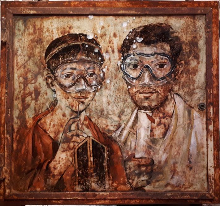 Blub, I coniugi vesuviani, Terentius Neo e la moglie, photo Giorgio Albano