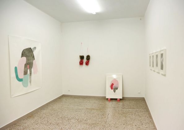Chrysanthos Christodoulou, Untitled. Cagoule. Koukoula. Exhibition view