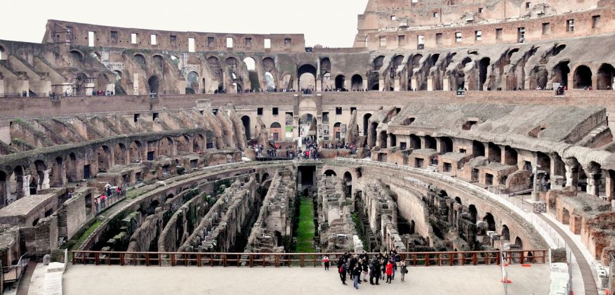 Colosseo, Roma, veduta dell'interno. Photo © Irene Fanizza